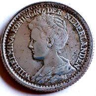 NEDERLAND  : ZEER MOOIE 25 CENT 1919 XF  KM146  ZILVER - 25 Cent