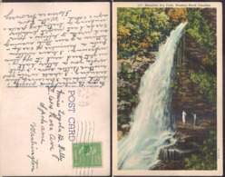 C. Postale -  Beautiful Dry Falls - Western North Carolina - 1941 - Circulee - A1RR2 - Etats-Unis