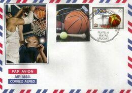 Federacion Uruguaya De Basketball  (Centenaire)    Lettre - Uruguay