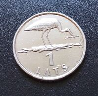 LATVIA LETTLAND , LETTONIA 2001 Year Coin 1 LATS STORK RARE - Lettonie