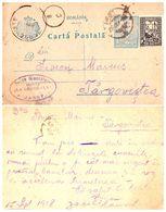 IASI / JASSY : JACOB GLANZSTEIN / MOBILE [ JUDAÏCA ! ] - ENTIER POSTAL / STATIONERY POSTCARD ~ 1918 / WW I (af215) - Rumania