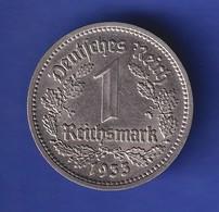 Deutsches Reich Kursmünze 1 Mark A 1933 Sehr Schön !  - 5 Reichsmark