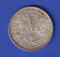 Deutsches Kaiserreich Silber-Kursmünze 1 Mark 1902 D - [ 2] 1871-1918 : Imperio Alemán