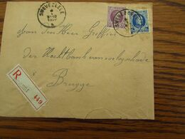 N° 198 + N° 206 (HOUYOUX) Soit 1,50frs (port Exact) Sur Lettre Recommandée De SWEVEZEELE Pour Brugge En 1927 - Postmark Collection