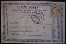 Pertuis Vaucluse 1875 Gc 2825 Sur  Carte Précurseur Pour Marseille - 1849-1876: Periodo Clásico