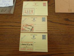 3 PUBLIBELS NEUFS. N° 475, 609 Et 799. - Stamped Stationery