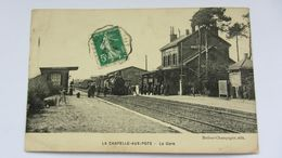 CPA  Ancienne  , CHAPELLE-AUX-POTS , GARE  . - Beauvais