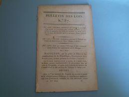 Napoléon:acquisition Engelsdorf & Hottingen; Canal Napoléon; Nouveau Timbre Des Papiers:l'aigle Impérial - Wetten & Decreten