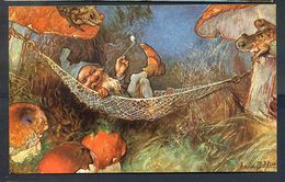 CP ANCIENNE REF250720 ..  Le Lutin Dans Un Hamac, Artiste HEINRICH SCHLITT - Ilustradores & Fotógrafos