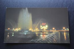 Russia. Chechen Republic - Chechnya. Groznyi Capital, Fountain At Night - Modern Postcard 2000s - Tchétchénie