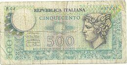 500 LIRE   R08 407223   14-12-1974 - 500 Lire
