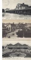 Trois Cpa Gares Orleans,lyon,chalons Sur Marne - Gares - Sans Trains