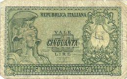 LIRE  50--1118--051586   31  DICEMBRE 1951 - 50 Lire