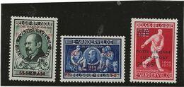 BELGIQUE - POSTE AERIENNE SERIE VANDERVELDE N° 18 A 20 NEUVE INFIME CHARNIERE -ANNEE 1947 - Luftpost