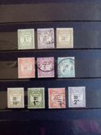 ALGERIE.1926 à 1933. TAXES N° 15 à 24. 6 Neufs + 4 Oblitérés. Côte Yvert 2013 : 39,35€ - Segnatasse