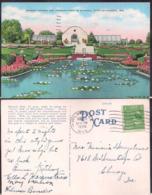 C. Postale - Sunken Garden And Conservatory - Mitchell Park - 1939 - Circulee - A1RR2 - Milwaukee