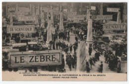 PARIS : GRAND PALAIS - EXPOSITION INTERNATIONALE DE L'AUTOMOBILE DU CYCLE & DES SPORTS - ECRITE EN 1913 -z 2 SCANS Z- - Expositions