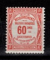 Taxe YV 48 N* (trace) Cote 3 Euros - 1859-1955 Nuevos