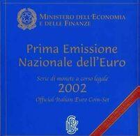 Italy Euro Coins Set 2002 - Italie