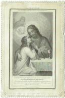Image Pieuse. Canivet. Souvenir De Communion. Amélie D'Ursel, Sacré-Coeur De Bois L'Evèque, 1874. - Images Religieuses