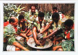 Fidji   Cérémonie Du Kawa  Apéritif Sagaies Danse Guerriere   Années 80s - Fidschi