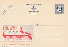 Carte Entier Postal Publibels 1014 Café - Hôtel Restaurant Au Faisan Doré - Stamped Stationery