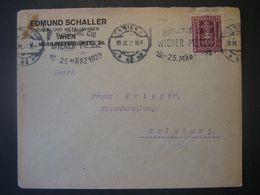 Österreich 1956- Geschäftsbrief Bundesfachschule Für Stahlbearbeitung Gelaufen Nach Wien P.b.b. - 1945-60 Cartas
