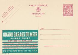 Carte Entier Postal Publibels 787 Grand Garage Du Meir - Stamped Stationery
