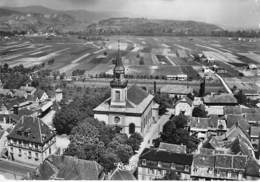 68 - WINTZENHEIM : L'Eglise St Laurent Et La Mairie - CPSM Dentelée Noir Blanc Grand Format - Haut Rhin - Wintzenheim