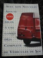 Dépliant Peugeot J5 1800 + Divers Véhicules Peugeot + Bulletins De Jeu-1991 - Publicidad