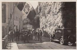 VENTIMIGLIA-IMPERIA-GRIMALDI-FRONTIERA ITALIANA-CARTOLINA ANIMATISSIMA-VERA FOTOGRAFIA- NON VIAGGIATA -ANNO 1935-1945 - Imperia