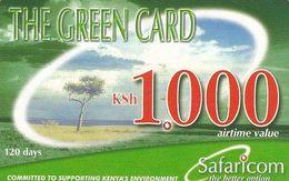 KENYA - Landscape, Safaricom Prepaid Card Kshs 1000, Exp.date 31/07/04, Used - Kenya