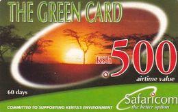 KENYA - Landscape, Safaricom Prepaid Card Kshs 500, Exp.date 30/11/04, Used - Kenya
