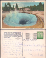 C. Postale - Yellowstone Park - Morning Glory Pool - 1941 - Circulee - A1RR2 - Yellowstone