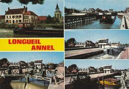 60-LONGUEIL ANNEL - Ecluses De Janville Multivues écluse Péniches - Longueil Annel