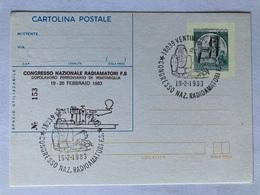 Postale C 189 Con Sovrastampa Privata Congresso Nazionale Radioamatori Ventimiglia E Annullo Speciale 1983. - Entiers Postaux