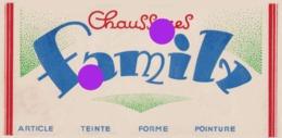 étiquette CHAUSSURES FAMILY Vers 1935 ROMANS - Publicidad