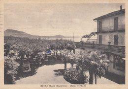 MEINA-NOVARA-LAGO MAGGIORE-HOTEL=VERBANO=-CARTOLINA  VIAGGIATA IL 16-1-1953 - Novara