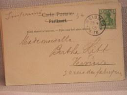 BELGIQUE -  CPA HAUTES-FAGNES CHAPELLE FISCHBACH-  AFFANCHIE 5 Pf DEUTSCHES - OBLIT WEISMES 1905 - Oddities