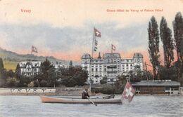 Vevey Grand Hôtel Et Palace Hôtel - Barque - Drapeau Suisse - VD Vaud