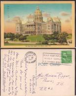 C. Postale - The Iowa Capitol - Circa 1947- Circulee - A1RR2 - Des Moines