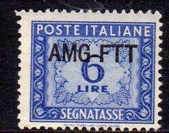 TRIESTE A 1949 1954 AMG-FTT SOPRASTAMPATO D'ITALIA ITALY OVERPRINTED SEGNATASSE POSTAGE DUE TAXES TASSE LIRE 6 MNH - Impuestos