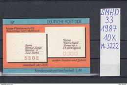 DDR Michel Kat.Nr.  SMHD  33  (Inhalt Postfr 10x3222) - [6] República Democrática