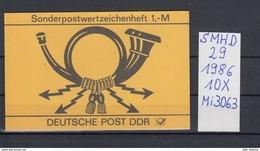 DDR Michel Kat.Nr.  SMHD  29  (Inhalt Postfr 10x3063) - [6] República Democrática