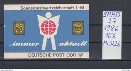 DDR Michel Kat.Nr.  SMHD Postfr 27  (Inhalt Posttfr 10x3226) - [6] República Democrática