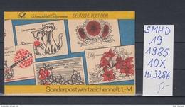 DDR Michel Kat.Nr.  SMHD Postfr 19 (Inhalt Postfr 10x3286) - [6] República Democrática