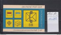 DDR Michel Kat.Nr.  SMHD Postfr 11cc (Inhalt Postfr 10x2853) - [6] República Democrática