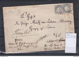 Reich Michel Kat.Nr. 20 MeF In Die Schweiz An Prinz Moritz Von Sachsen - Altenburg - Alemania