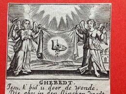 Image Pieuse - 18ième - GRAVURE - S. Verbruggen - Blessure PIED - SANG - 8.5 Cm X 5.5 Cm - Images Religieuses