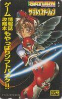 Télécarte JAPON / 110-016 - MANGA - SEGA SATURN - ROBOT GIRL ** SOFT BANK ** Jeu Video Game -  JAPAN Phonecard  - 12130 - BD